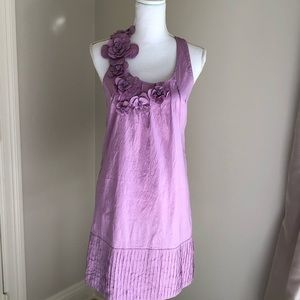 Calypso Lavender silk dress